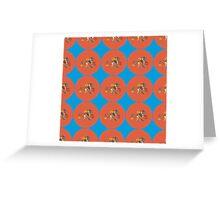 Monster Pattern (Red Orange Background) Greeting Card