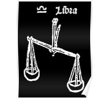 LIBRA, Signs of the Zodiac, The Scales, Horoscope, Birth sign, Birth Star, Astrology Poster