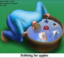 Bobbing For Apples by Londons Times Cartoons by Rick  London