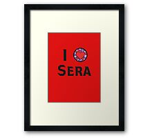 I Heart Sera Framed Print