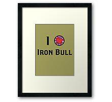 I Heart Iron Bull Framed Print