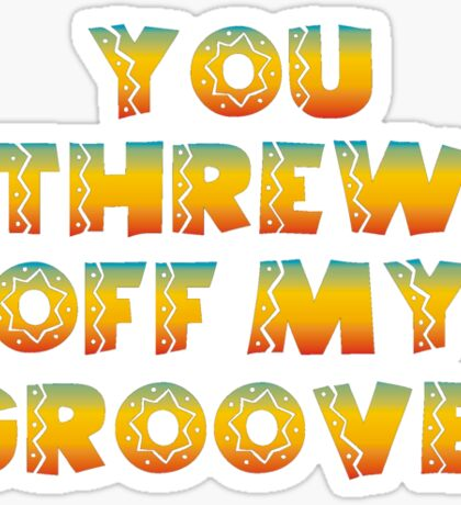 Thrown Off Groove Sticker