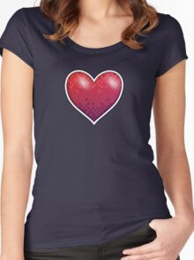 Heart of Pixels Women's Fitted Scoop T-Shirt