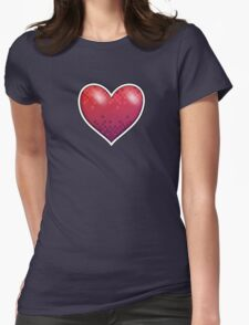 Heart of Pixels Womens Fitted T-Shirt