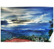 Sunset in Almora Poster