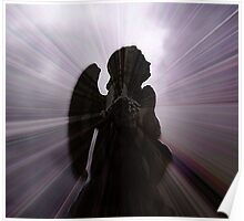 Silhouette - Angel, Deep in Prayer  Poster