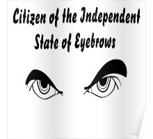 They want to set up their own Independent State of Eyebrows!  Poster