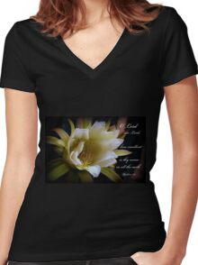 Lord Our Lord Women's Fitted V-Neck T-Shirt