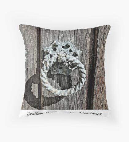 Door Knocker - 2 Throw Pillow