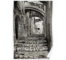 Portico, Via Muro, Sassi, Matera, Basilicata, Italy Poster