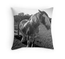Ye old draft horse Throw Pillow