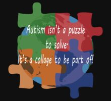 Autism is a collage (v2 - white text) by Sharon Murphy