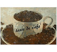 tasse de cafe' Photographic Print
