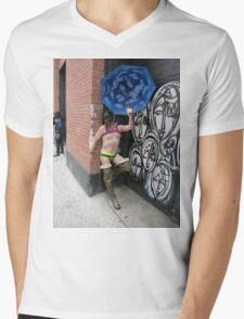 Fun Pup Mens V-Neck T-Shirt