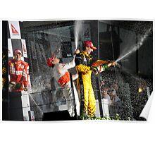 A Podium Finish - Melbourne F1 2010 #2 Poster