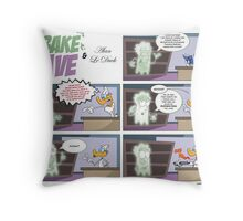 Obake Dave & Alan Le Duck Throw Pillow