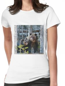 Sow And Cub Womens Fitted T-Shirt