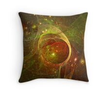 The universe on fire Throw Pillow