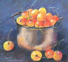 Cherries in a Copper Pan by artbyrachel