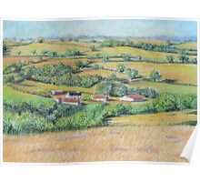 An English Landscape Poster