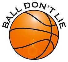 BASKETBALL, SPORT, BALL DON'T LIE, USA, America, American by TOM HILL - Designer