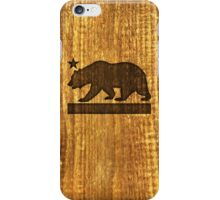 California Bear Wood Design iPhone Case/Skin