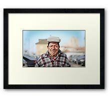 The old sea wolf Framed Print