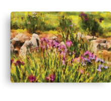 Iris - A Tribute to Monet Canvas Print