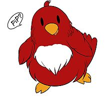 """""""PIP PIP!"""" Spring birdsong in red! (v1) Photographic Print"""