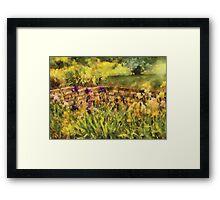 Iris - By the Bridge Framed Print