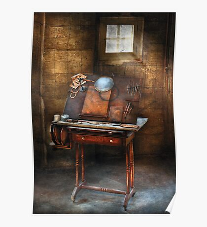 Artist - The etching table Poster