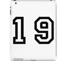 Number Nineteen iPad Case/Skin
