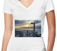 VIEW TO A SUNSET Women's Fitted V-Neck T-Shirt