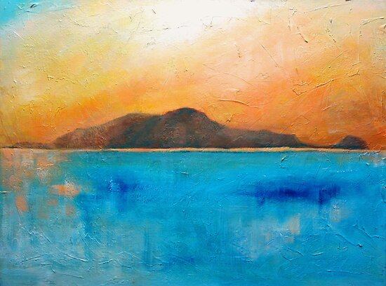 Sunset over there by Carole Russell