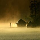 Cabin in the Mist by scarlett131