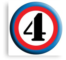 FOUR, ROUNDEL, NUMBER 4, FOURTH, 4,TEAM SPORTS, Competition, Canvas Print