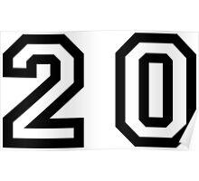 Number Twenty Poster