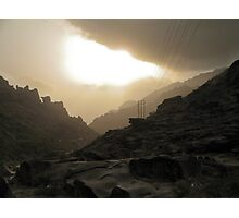 The road to Mordor... with modern comfort ! Photographic Print