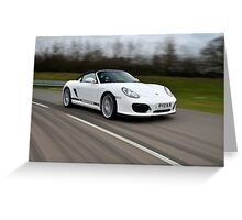 The new Porsche Boxster Spyder .... Greeting Card