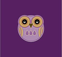 Purple Owl by Louise Parton