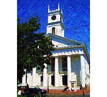 Whaling Church in Edgartown, Martha's Vineyard Photographic Print