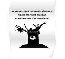 The Knights That Say Ni! T Shirts, Stickers and Other Gifts Monty Python's Poster
