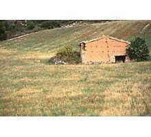 Country house landscape, Teruel , Spain Photographic Print