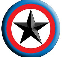 Bulls Eye, Right on Target, Roundel, Archery, Star, Badge, Buttton by TOM HILL - Designer