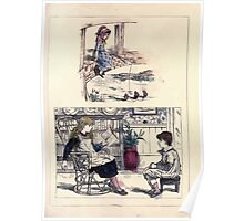The Little Folks Painting book by George Weatherly and Kate Greenaway 0131 Poster