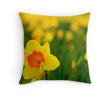 Lonely in a field of gold Throw Pillow