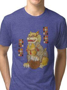 Laughing Fu Lion Tee Tri-blend T-Shirt