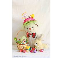 Fatso Bear gets an Easter Basket from the Easter Bunny Photographic Print