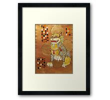 The Laughing Fu Lion Framed Print