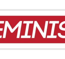 Red Feminist Logo Sticker